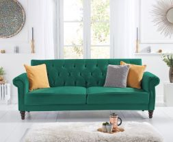 Ora Green Velvet Sofa Bed