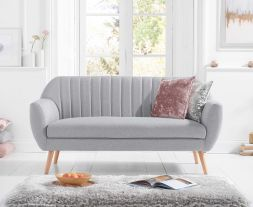 Luxor Grey Linen 3 Seater Sofa
