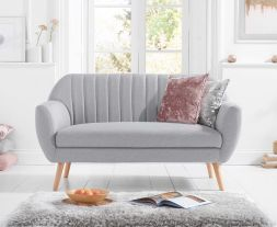 Luxor Grey Linen 2 Seater Sofa