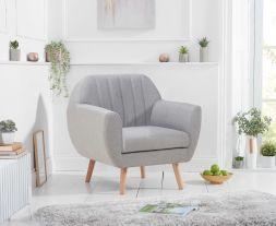 Luxor Grey Linen Armchair