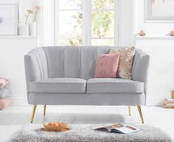 Lucena Grey Linen 2 Seater Sofa