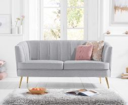 Lucena Grey Linen 3 Seater Sofa