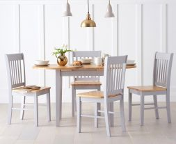 Alaska Oak & Grey Dining Set
