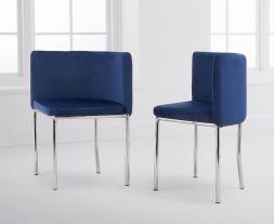 Abingdon Blue Velvet Chair (Set of 4)