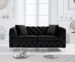 Alegra Black Velvet 2 Seater Sofa