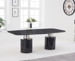 Adeline 260cm Black Marble Dining Table