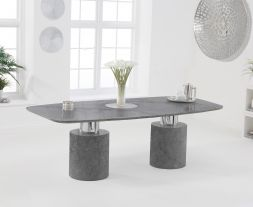 Adeline 220cm Grey Marble Dining Table
