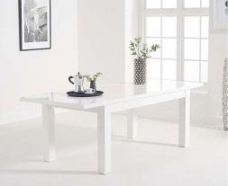 Ava White Gloss 160-220cm Extending Table