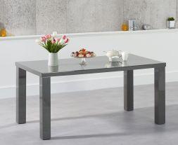 Ava 160cm Dark Grey High Gloss Dining Table