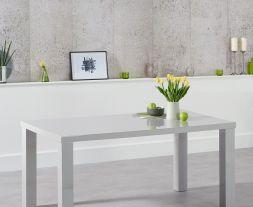 Ava 160cm Light Grey High Gloss Dining Table