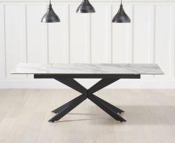 Britolli 180cm Extending White Ceramic Dining Table