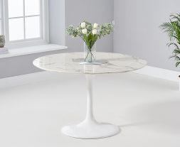 Brittney 120cm Round White Dining Table