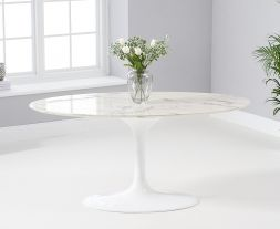 Brittney 160cm Oval White Dining Table