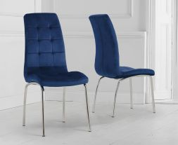 Blue Velvet California Chairs (Pair)