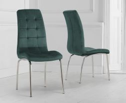 Green Velvet California Chairs (Pair)