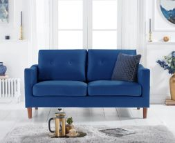 Carrie Blue Velvet 2 Seater Sofa