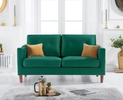 Carrie Green Velvet 2 Seater Sofa