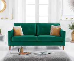 Carrie Green Velvet 3 Seater Sofa
