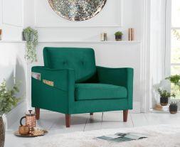 Carrie Green Velvet Armchair