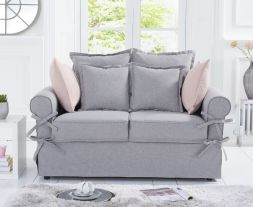 Celia Grey Linen 2 Seater Sofa