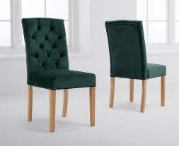 Clarissa Green Velvet Dining Chairs (Pairs)