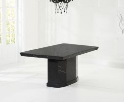 Como Black 160cm Marble Dining Table