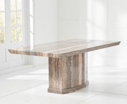 Como 160cm Brown Marble Dining Table
