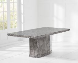 Como Grey 160cm Marble Dining Table
