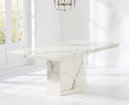 Como White 200cm Marble Dining Table
