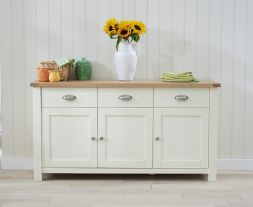 Sandringham Oak & Cream Large Sideboard