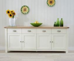 Sandringham Oak & Cream Extra Large Sideboard