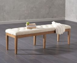 Courtney 150cm Beige Fabric Bench