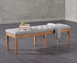 Courtney 150cm Grey Fabric Bench