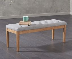 Courtney 120cm Grey Fabric Bench