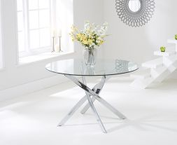 Daytona 120cm Glass Round Dining Table
