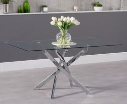 Daytona 160cm Rectangular Glass Dining Table