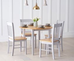Genovia Extending Oak And Grey Dining Set