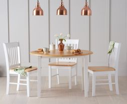 Genovia Extending Oak And White Dining Set