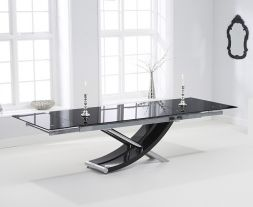 Hanover 210cm Glass Extending Dining Table