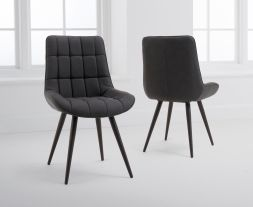 Horacio Grey Faux Leather Dining Chairs (Pairs)