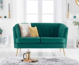 Lucena Green Velvet 2 Seater Sofa