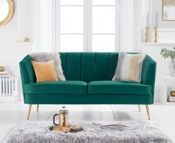 Lucena Green Velvet 3 Seater Sofa