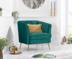 Lucena Green Velvet Armchair