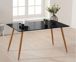 Mansfield 130cm Matt Black Dining Table