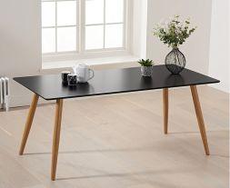 Mansfield 180cm Matt Black Dining Table