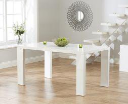 Metz 150cm White High Gloss Dining Table