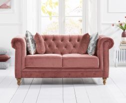 Montrose Blush Plush 2 Seater Sofa
