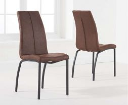 Nadia Antique Brown Dining Chair (Pairs)