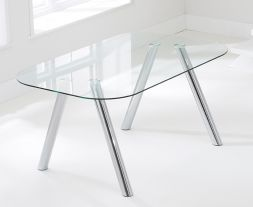 Pantheon 160cm Glass Dining Table