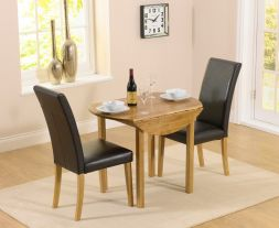 Promo Round Extending Dining Set With Atlanta Chairs